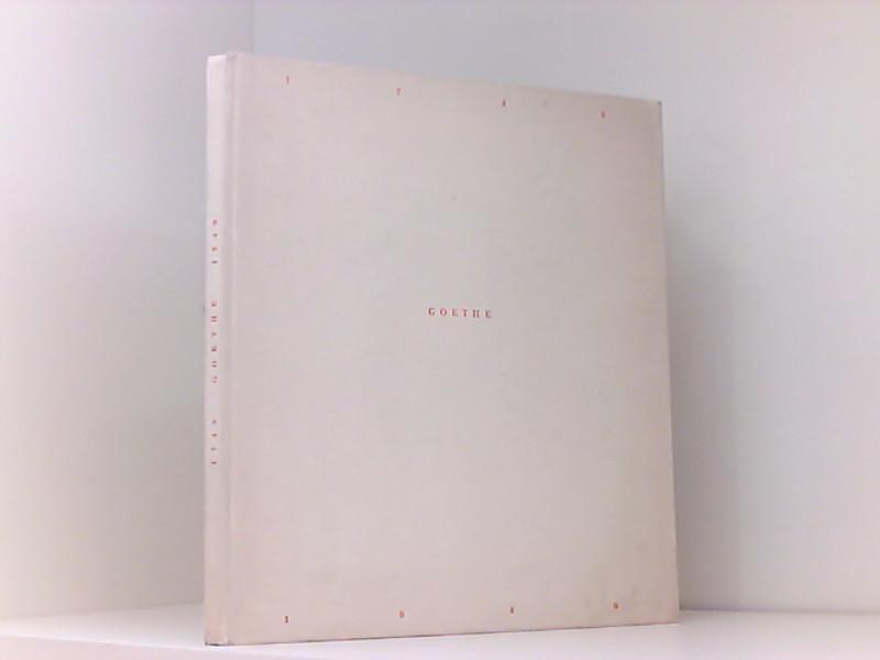 1749-Goethe-1949 : Hrsg. am 28. Aug. 1949: Wolfgang von Goethe,