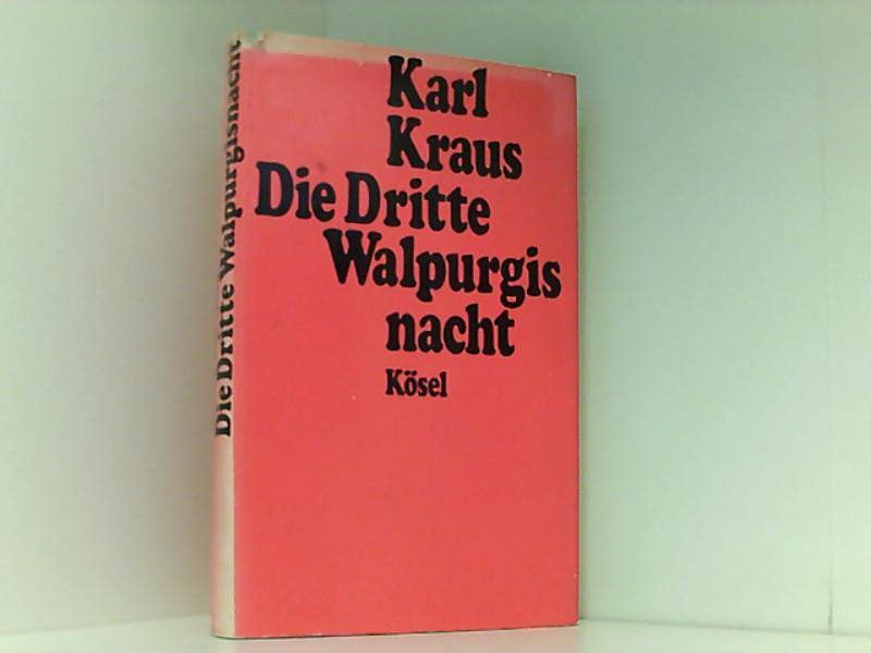 Die dritte Walpurgisnacht: Heinrich, Fischer, Kraus