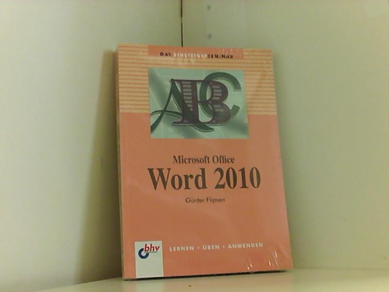 Microsoft Office Word 2010 (bhv Einsteigerseminar) - Rainer, Osenberg
