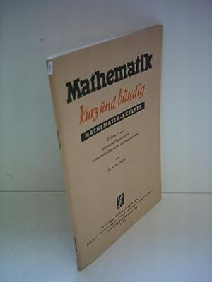 Alfred Haendel: Mathematik - kurz und bündig: Haendel, Alfred: