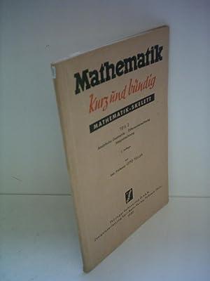 Otto Teller: Mathematik - kurz und bündig: Teller, Otto:
