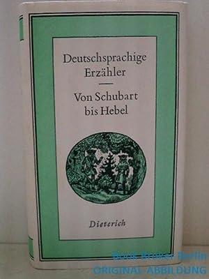Deutschsprachige Erzähler von Schubart bis Hebel (Sammlung: Pilling hrsg, Dieter: