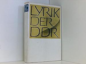 Lyrik der DDR: Kunert, Günter, Reiner