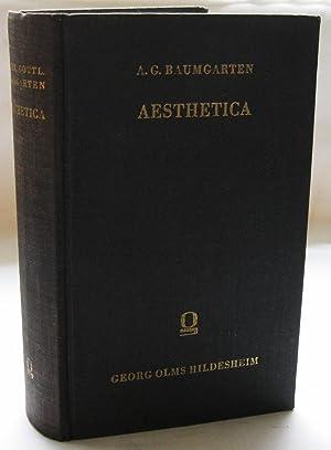 Aesthetica: Baumgarten, Alexander Gottlieb