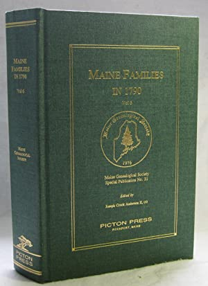 Maine Families in 1790, Volume 6: Anderson, Joseph Crook