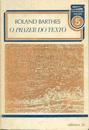 O prazer do texto: Barthes, Roland