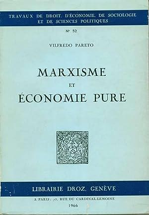 Marxisme et économie pure: Pareto, Vilfredo