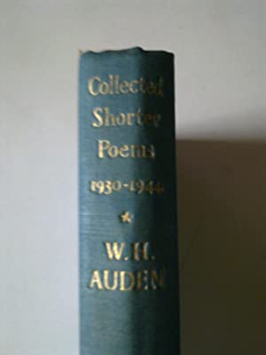 Collected Shorter Poems: AUDEN, W. H