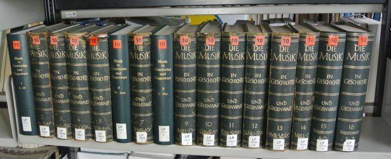 Die Musik in Geschichte und Gegenwart (MGG), 1. Auflage in 16 Bänden: 1-14 Band: Enzyklop&auml...