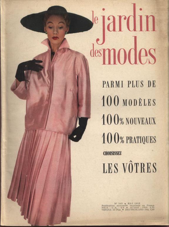 JARDIN DES MODES, Mai 1952. Parmi plus
