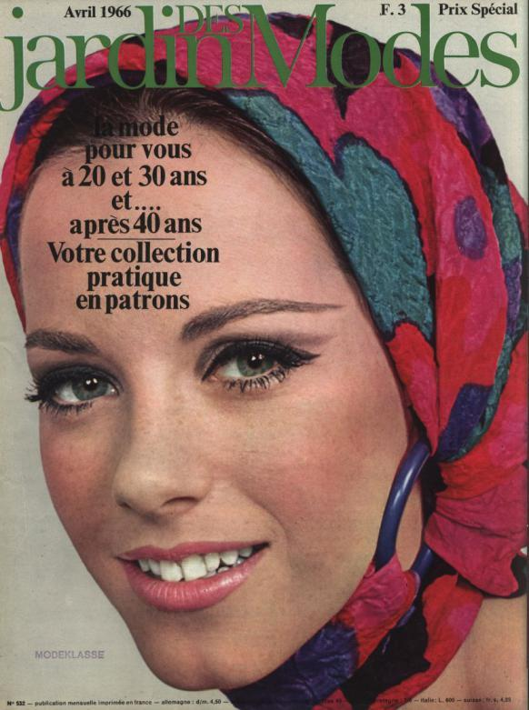 JARDIN DES MODES, Avril 1966. la mode