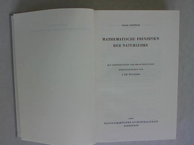 Mathematische Prinzipien der Naturlehre.: Newton, Isaac: