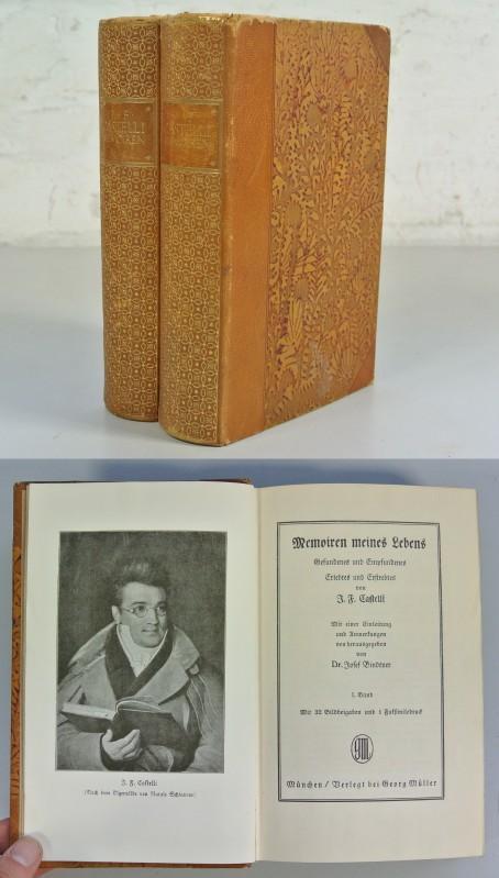 Memoiren meines Lebens Gefundenes und Empfundenes Erlebtes und Erstrebtes von J. F. Castelli. 2 B&...