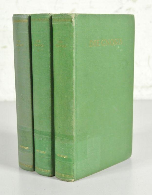 DIE GNOSIS. 3 Bände. - 1. Band: Zegnisse der Kirchenväter. / 2. Band: Koptische und ...