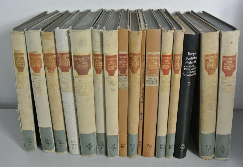 HANDBUCH DER KUNSTWISSENSCHAFT, Konvolut von 16 Büchern.: Burger, Fritz [Hrsg.]