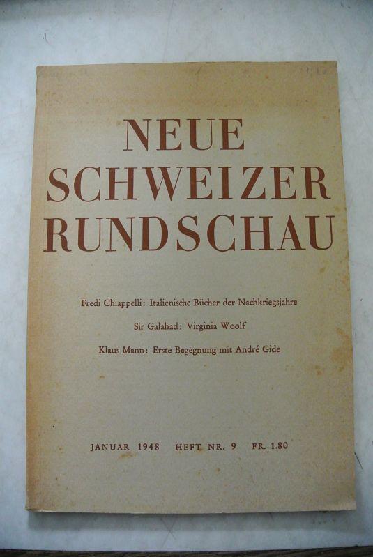 NEUE SCHWEIZER RUNDSCHAU. Januar 1948, Heft Nr.: Mann, Klaus: