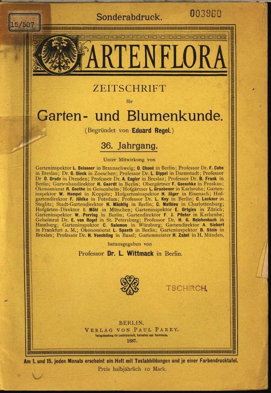 Blumenkunde zvab for Zeitschrift gartenflora