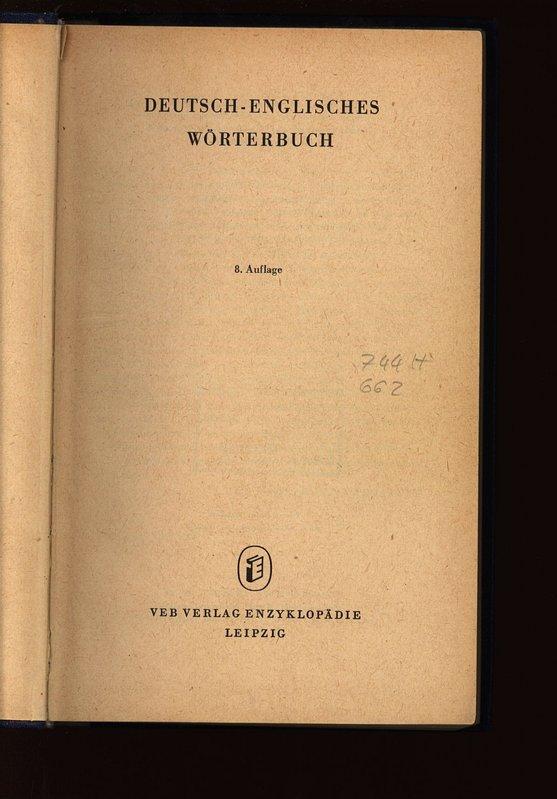 deutsche englisch wörterbuch