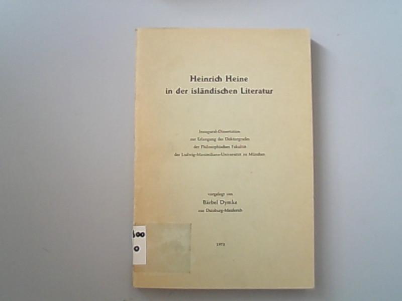 Heinrich Heine in der isländischen Literatur: Dymke, Bärbel,