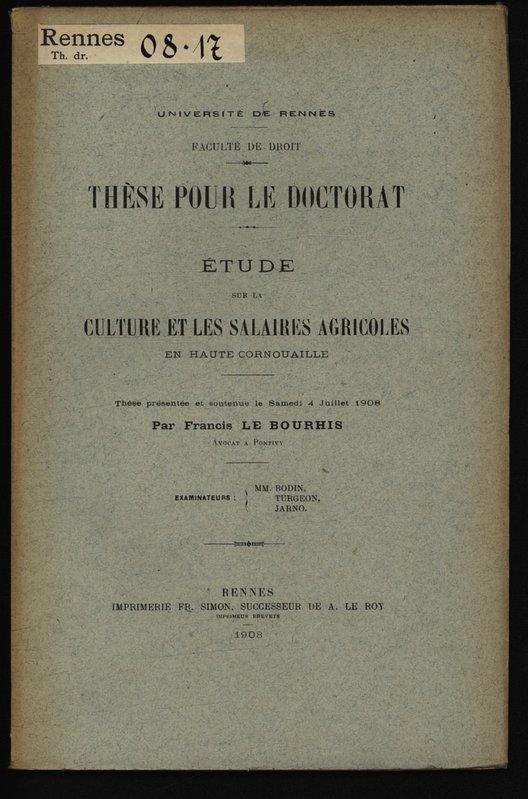 Dissertation sur la culture