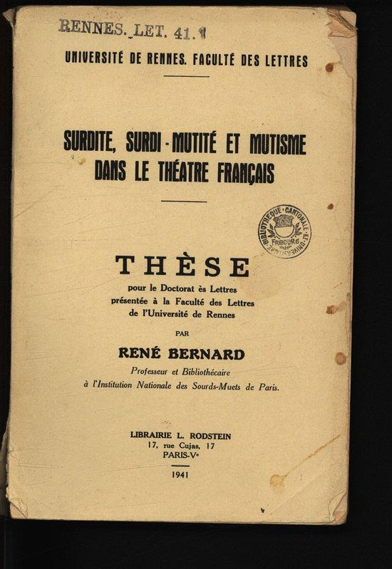 Dissertation le theatre