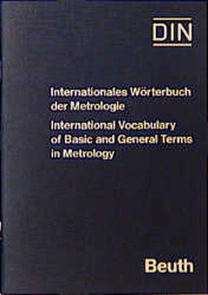 Internationales Wörterbuch der Metrologie - DIN e.V., e.V,