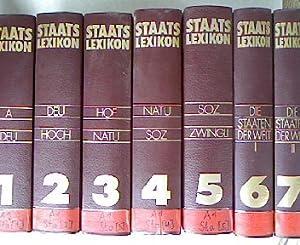 """Staatslexikon. 5 Bände (A-Z) und 2 Bände """"Die Staaten der Welt"""". 7 Bücher,..."""