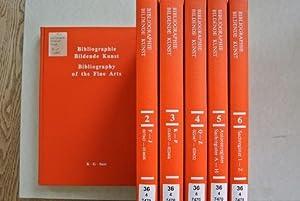 Bibliographie Bildende Kunst, Bände 1 bis 6 (komplett!). Deutschsprachige Hochschulschriften ...