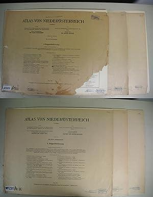 ATLAS VON NIEDERÖSTERREICH, Doppellieferung 1-6 (von 7). Herausgegeben von Hugo Hassinger, ...