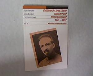Rabbiner Dr. Aron Tänzer - Gelehrter und Menschenfreund 1871 - 1937. Schriften des ...