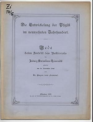 Die Entwicklung der Physik im neunzehnten Jahrhundert. Rede beim Antritt des Rektorats der ...