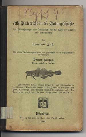 Der erste Unterricht in der Naturgeschichte. Ein Wiederholungs- und Übungsbuch für die ...