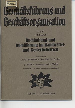 Geschäftsführung und Geschäftsorganisation 2. Teil 2. Stufe. Buchhaltung und Buchf&...
