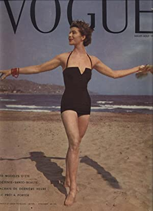 VOGUE, Juillet-Aout 1953, edition de Paris.