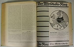 DER WIRTSCHAFTS-RING. Eine Wochenschrift, 14. Jahrgang (1941). Fest eingebunden. Unvollständig...