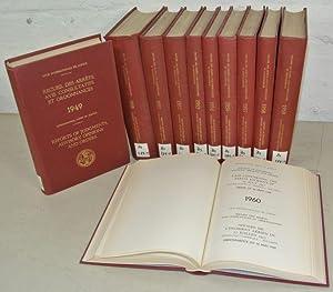Recueil des Arrets, avis Consultatifs et Ordonnances, 11 Volumes: 1949 - 1960. [= International ...