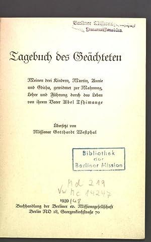 Tagebuch des Geächteten: Westphal, Gotthardt: