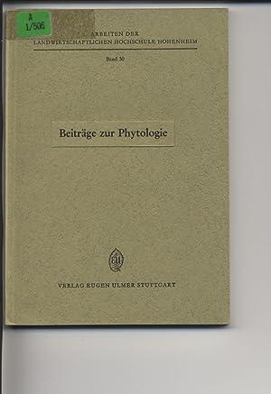 Beiträge zur Phytologie. Prof. Dr. Heinrich Walter zum 65. Geburtstag gewidmet. Arbeiten der ...