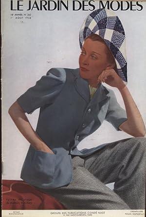 LE JARDIN DES MODES, 1. Aout 1938. Pyjama de plage de Marcel Rochas.