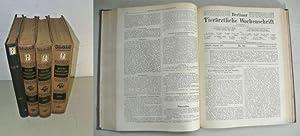BERLINER TIERÄRZTLICHE WOCHENSCHRIFT, 4 Jahrgänge: 1920 und 1927 bis 1929. [früher: ...
