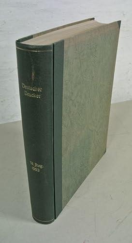 Deutscher Drucker. Fachzeitschrift für das gesamte graphische Gewerbe, 51. Jahrgang (1953). ...