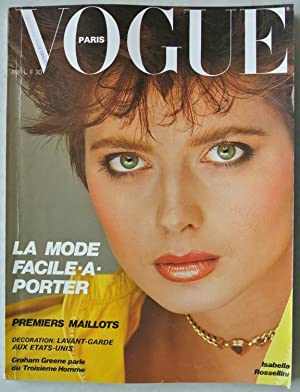 VOGUE, Paris, AVRIL 1982. Isabella Rossellini.