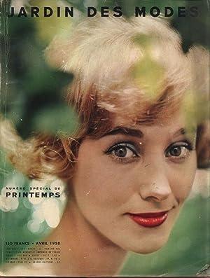 JARDIN DES MODES, Avril 1958. Cotons frais a porter. Selection-Couture de Bou.