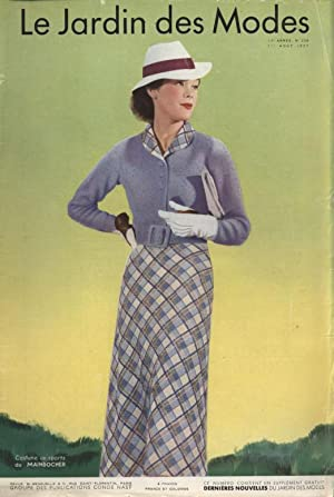 LE JARDIN DES MODES, 1. Aout 1937. Coutume oc sports do MAINBOCMER.