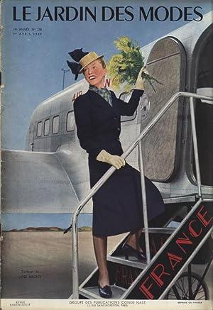 LE JARDIN DES MODES, 1. Avril 1939. No. 278. Tailleur do JANE REGNY.