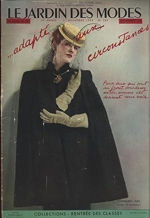 LE JARDIN DES MODES, 1. Novembre 1939. No. 289. .Adapte dux circoustances. Pour ceuse qui tout au ...