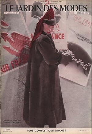 LE JARDIN DES MODES, 1. Decembre 1939. No. 291. Manteau de castor rase des FOURRURES RENEL.