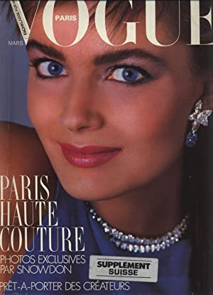 VOGUE, Paris, Mars 1986. Paris haute couture. Photos exclusives par snowdon. pret a porter des cr...
