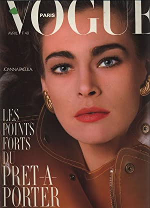 VOGUE, Paris, Avril 1987. Joanna Pacula. Les Points Forts du Pret a Porter.