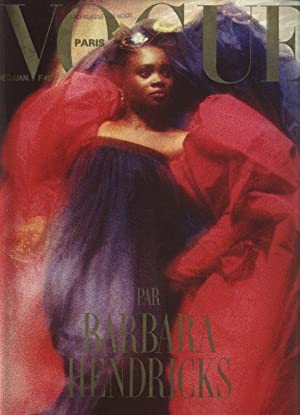 VOGUE, Paris, Decembre 1987 - Janvier 1988. Par Barbara Hendricks.